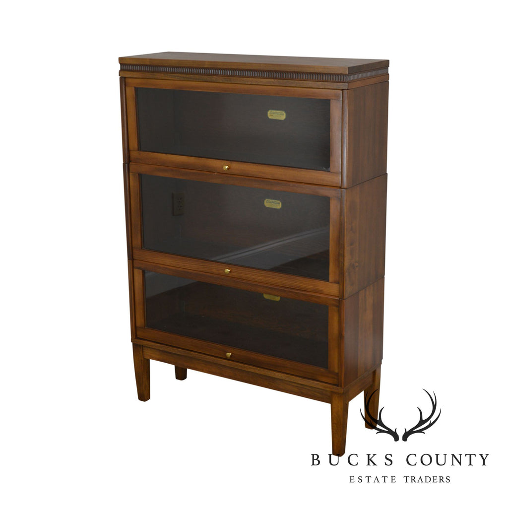 Lundstrom Antique 3 Stack Sectional Barrister Bookcase