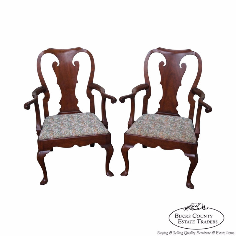 Kittinger Colonial Williamsburg Pair of Mahogany 18th Century Style Armchairs