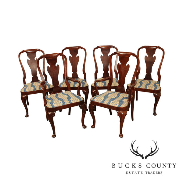Baker Historic Charleston Collection Set 6 Mahogany Queen Anne Dining Chairs