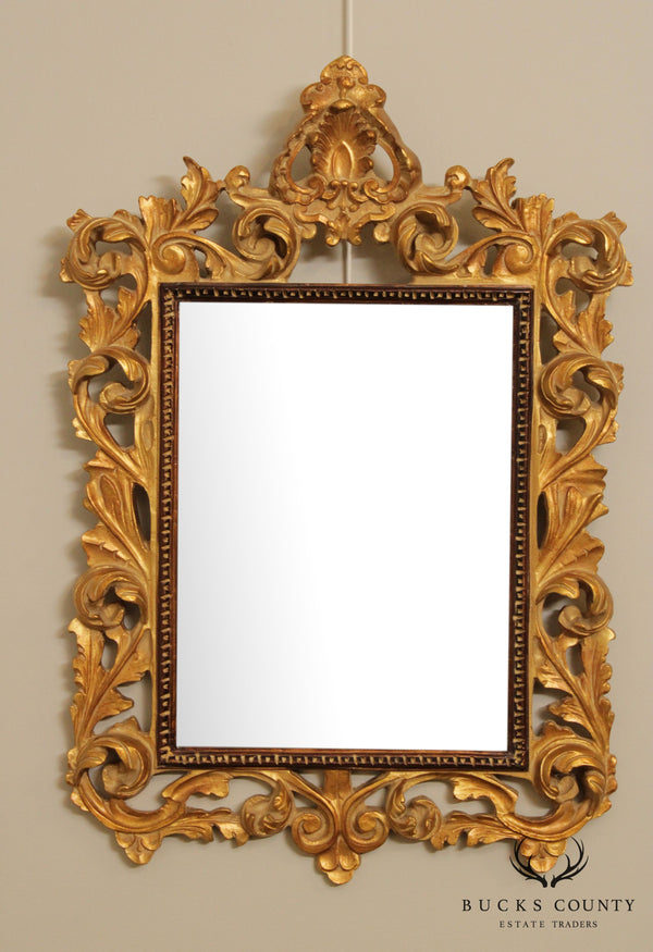 Rococo Style Gilt Carved Wall Mirror by Bombay
