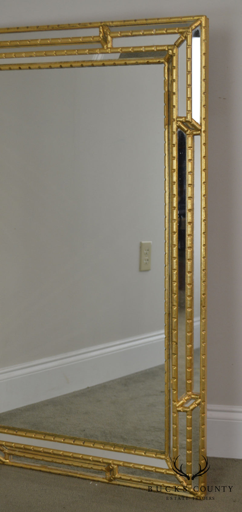 Ethan Allen Italian Gold Gilt Frame Pair Wall Mirrors