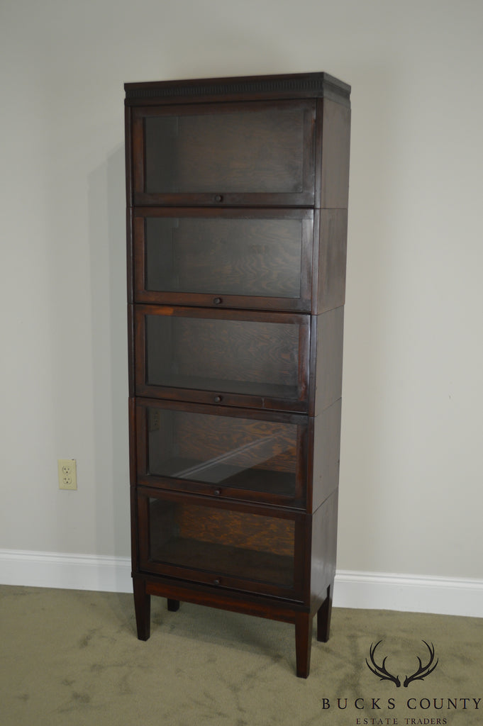 Lundstrom 24 Wide Antique Mahogany 5 Section Barrister