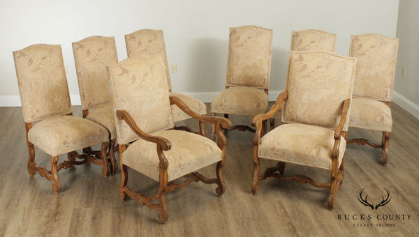 Kreiss French Louis XIII OS De Mouton Set 8 Rousseau Dining Chairs