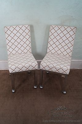 Milo Baughman Mid Century Set of 6 Chrome Dining Chairs