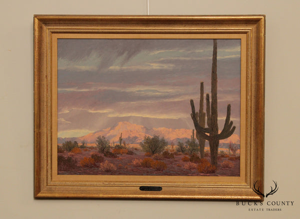 John W. Hilton 'Giant Country' Original Oil Painting California Desert Landscape