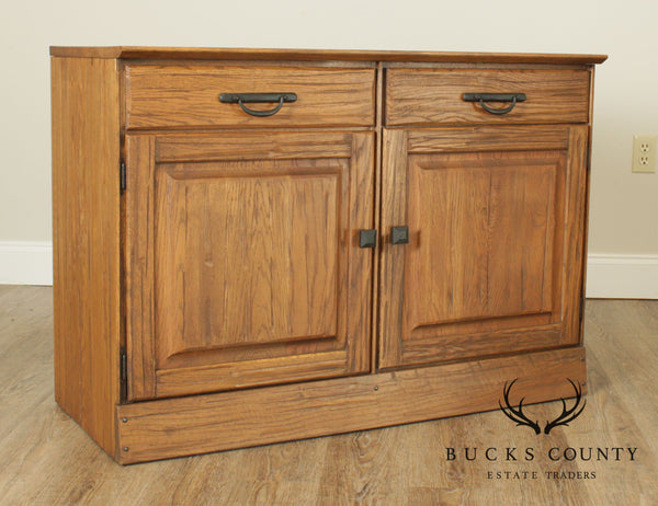Brandt Ranch Oak Rustic 2 Drawer 2 Door Cabinet