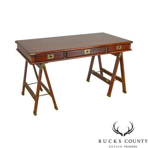 Lexington Nautical Home Cherry Campaign Style Writing Desk