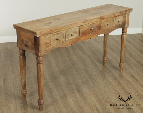 Rustic Farmhouse Four Drawer 76 inch Console
