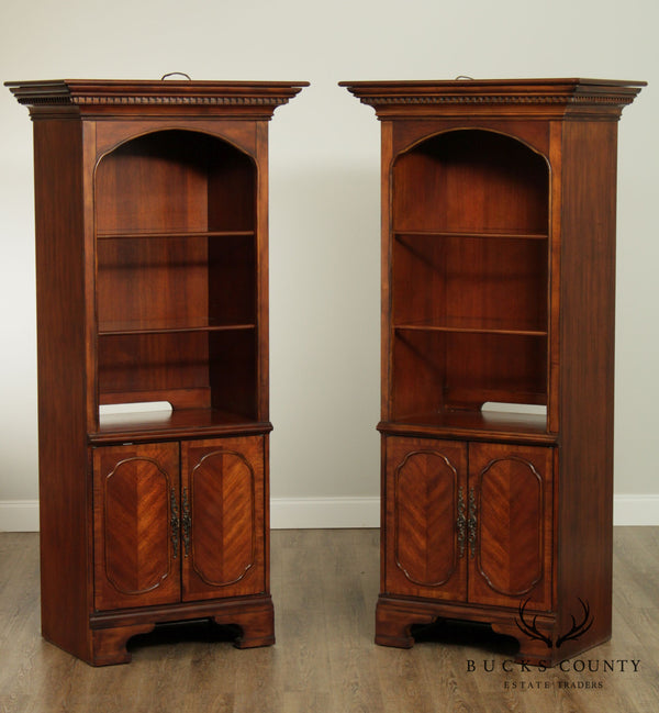Mahogany Pair Library or Office Bookcase