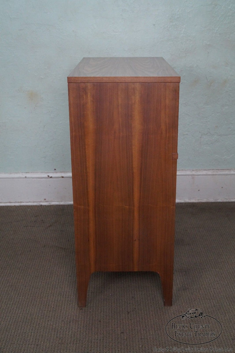 Mid Century Modern Walnut Tall Chest