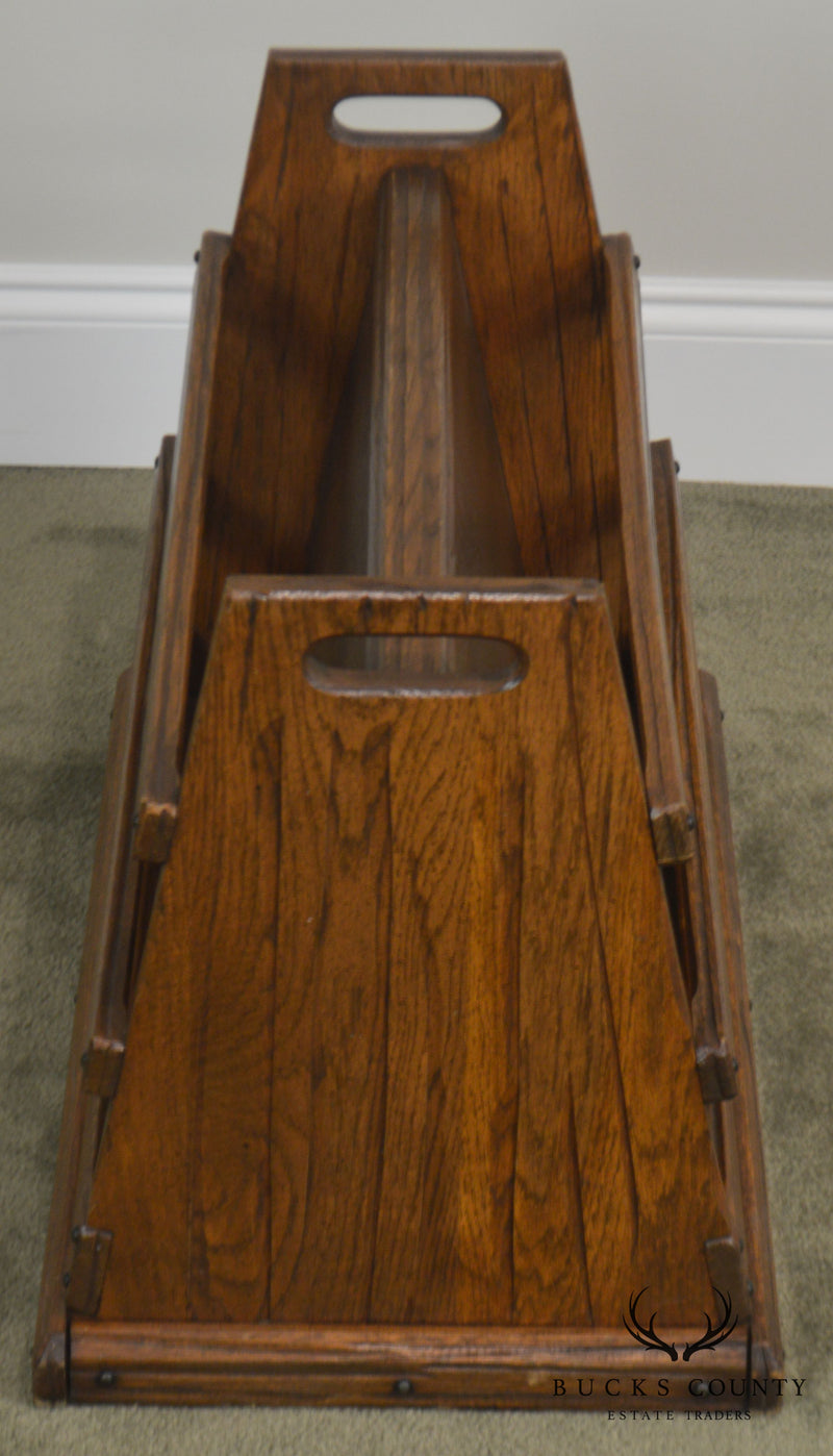 Brandt Ranch Oak Magazine Rack