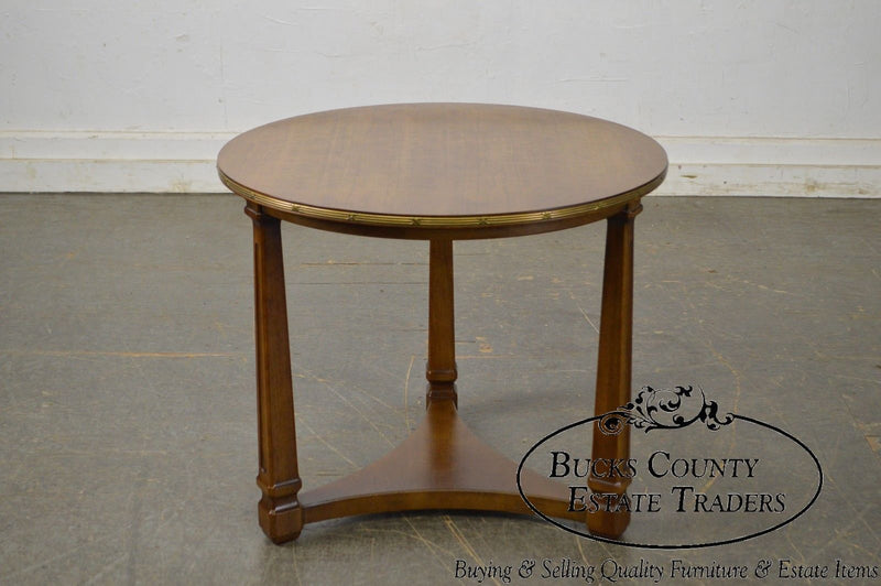Henredon French Empire Style Round Fruitwood Side Table