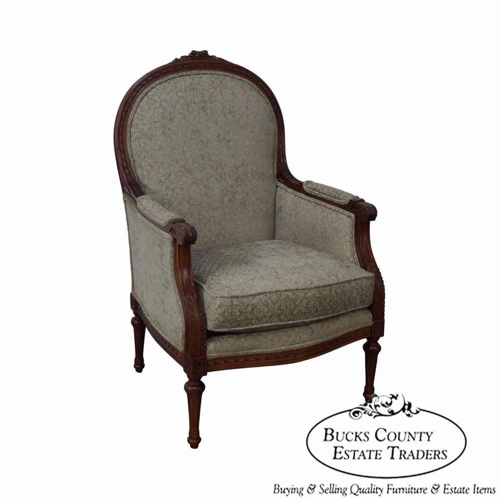 Thomasville French Louis XVI Style Bergere Living Room Chair ...