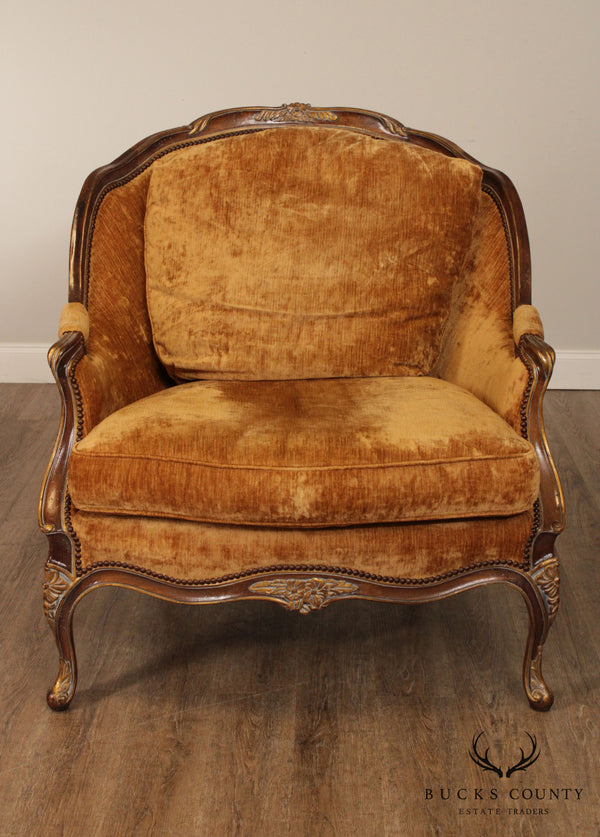 EJ Victor French Louis XV Style Large Bergere Chair
