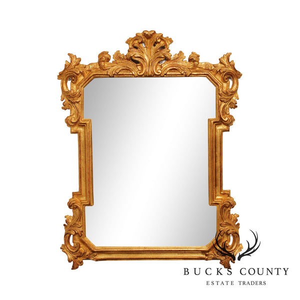 Decorative Crafts French Rococo Style Gold Giltwood Frame Mirror