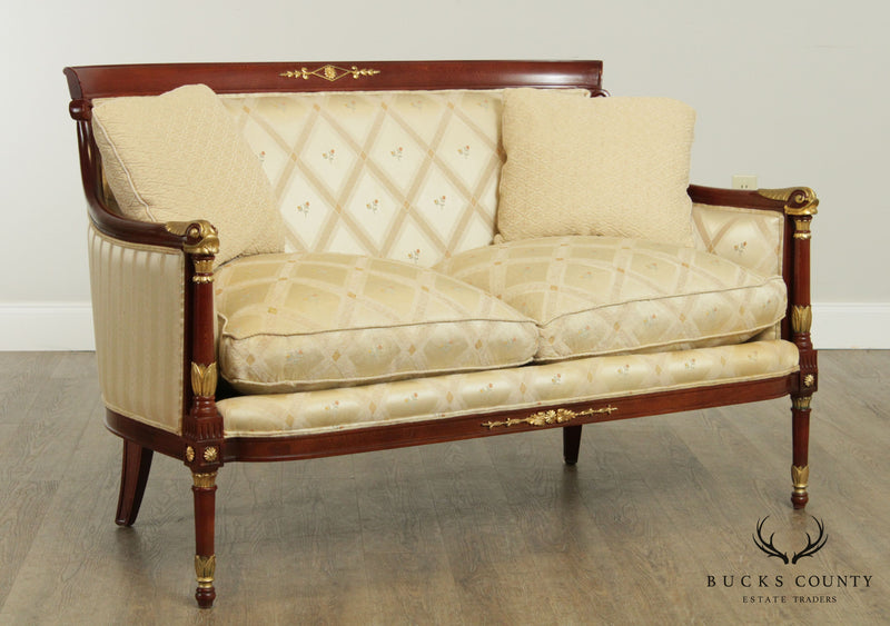 Quality French Directoire Louis XVI Style Loveseat