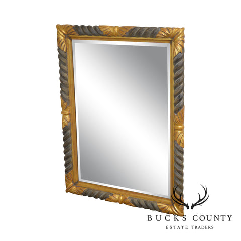 Italian Gilt Wood Frame Beveled Mirror