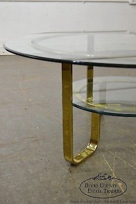 Sensational Design Institute Of America Mid Century Modern Round Brass Glass Coffee Table Home Interior And Landscaping Oversignezvosmurscom