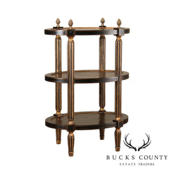 Maitland Smith Regency Style 3 Tier Etagere Stand Side Table