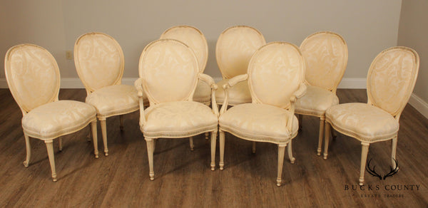 E J Victor 'The Newport Historic Collection' French Louis XVI Style Set 8 Dining Chairs