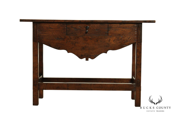 "Guy Chaddock ""The Clarence Collection"" Oak Console with Drawer"