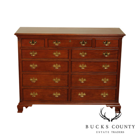 Stickley Chippendale Style Mahogany 11 Drawer Dresser