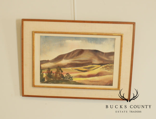 "William Montgomery Framed ""California"" Watercolor Painting Signed"
