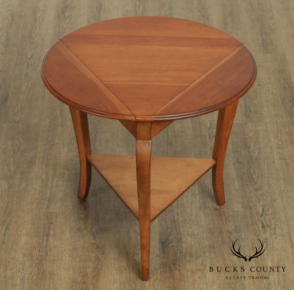 Superior Furniture French Country Style Cherry Drop Leaf Napkin Table