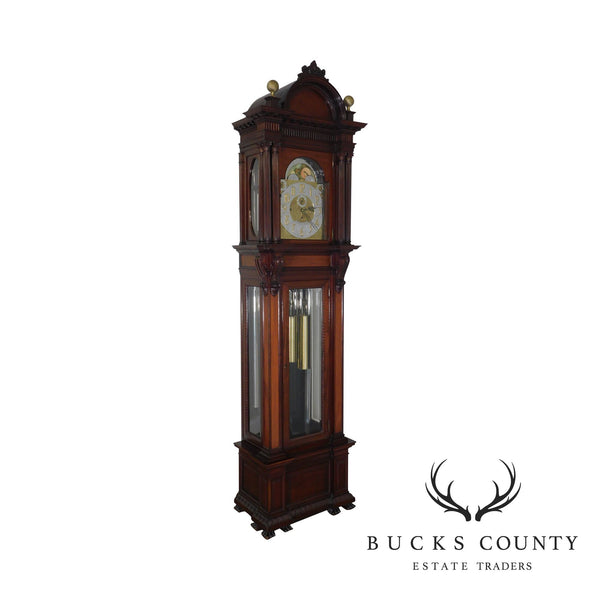 Tiffany & Co. New York Antique Mahogany 9 Tube Grandfather Clock