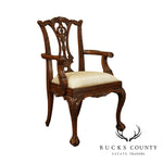 Maitland Smith Chippendale Style Carved Mahogany Ball & Claw Childs Armchair