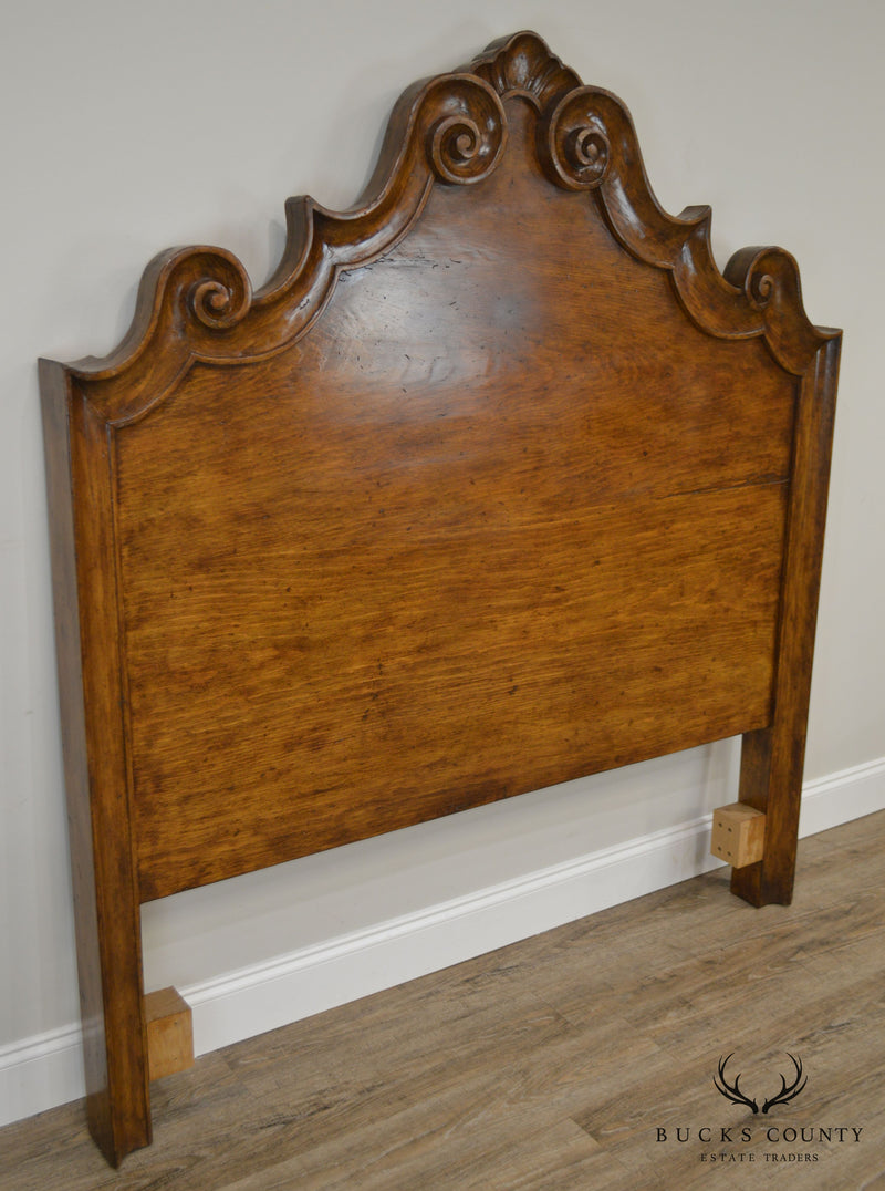 Michael Taylor Antiqued Pine Italian Queen Size Headboard