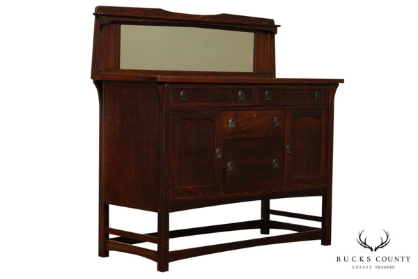 Lifetime Antique Mission Arts & Crafts Period Oak Sideboard