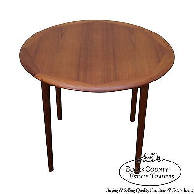 Haug Snekkeri Danish Modern Round Teak Side Table