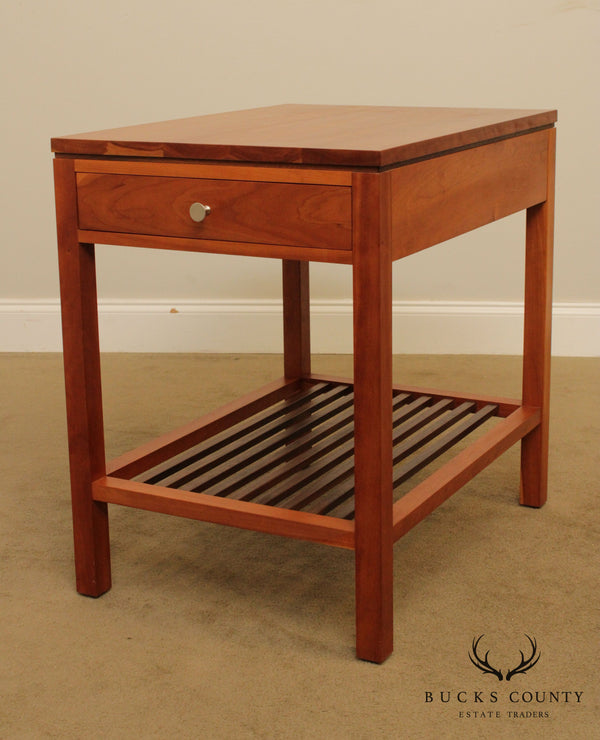 Stickley Metropolitan Cherry One Drawer End Table