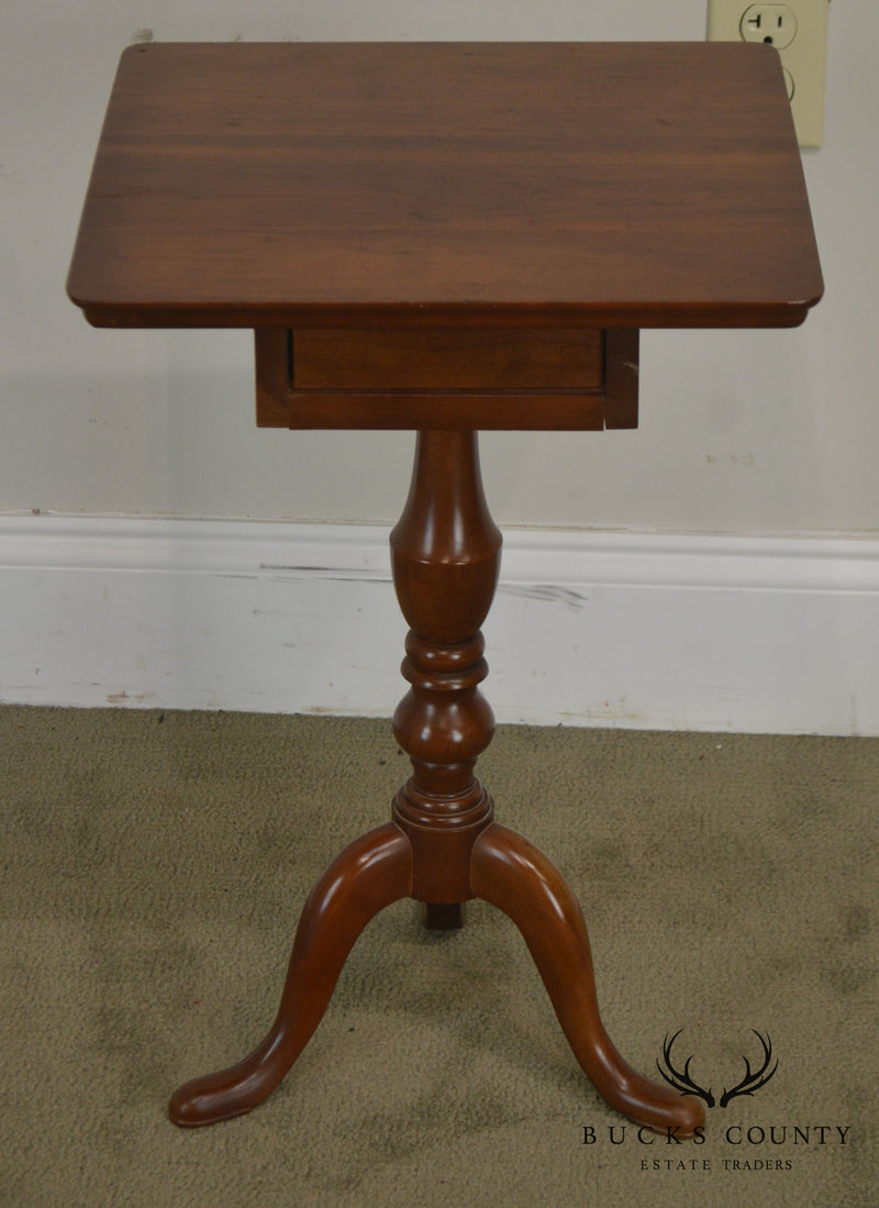 Traditional Solid Cherry One Drawer Candel Stand Side Table