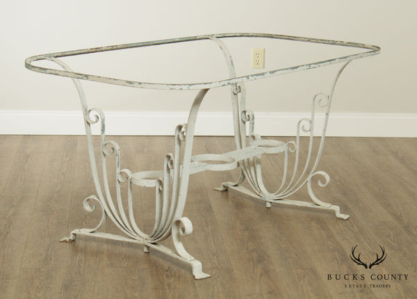 Salterini Wrought Iron Art Deco Garden or Patio Dining Table