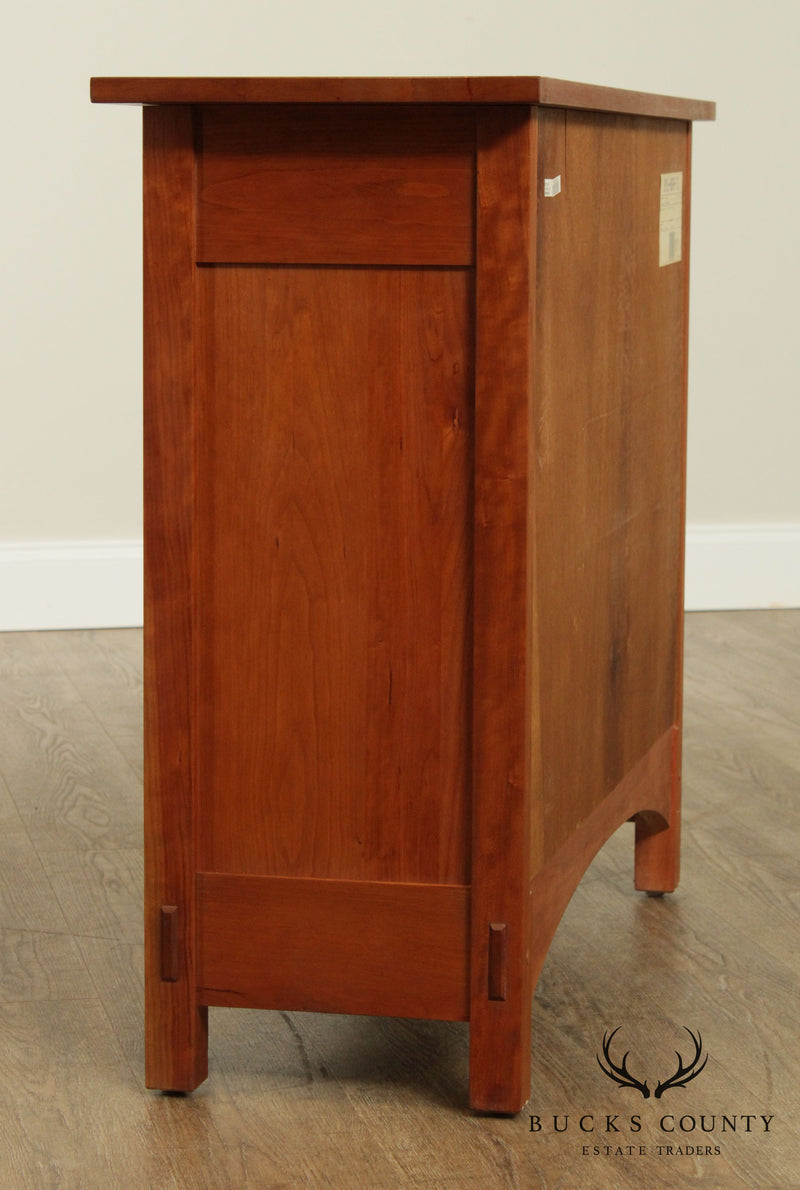 Stickley Mission Collection Cherry Inlaid Harvey Ellis Door Console
