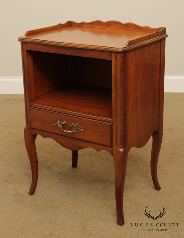 Kindel French Louis XV Style 'Chateau' Cherry One Drawer Nightstand