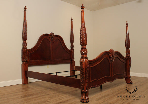 Quality Acanthus Carved Claw Foot King Size Poster Bed