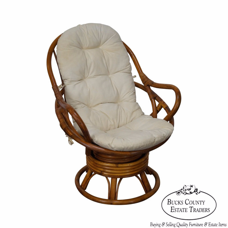 Quality Rattan Swivel Lounge Chair