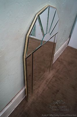 Contemporary Pair of Arch Top Beveled Mirrors
