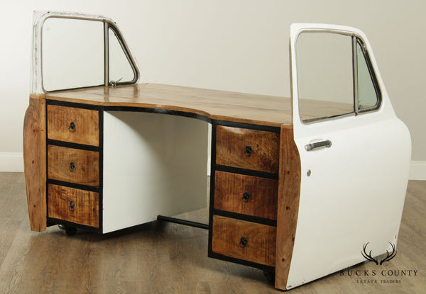 Unusual Industrial Modern Salvage Vintage Car Door Executive Desk