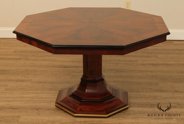 Century Empire Style Mahogany Octagonal Top Dining Table, 2 Leaves (B)