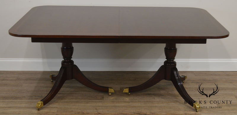 Kindel Oxford Mahogany Duncan Phyfe Style Dining Table