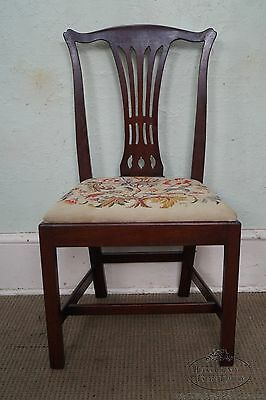 Berwyn Furniture 18th Century Style Mahogany Chippendale Side Chair