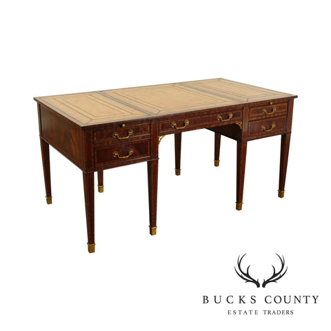 Maitland Smith Mahogany Regency Style Executive Desk