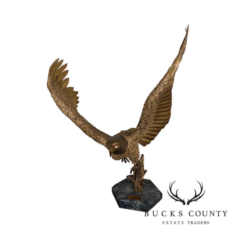 """Return to The Sur Coast"" By Robert Signorella, Sculpture of Baled Eagle in Flight 14/24"