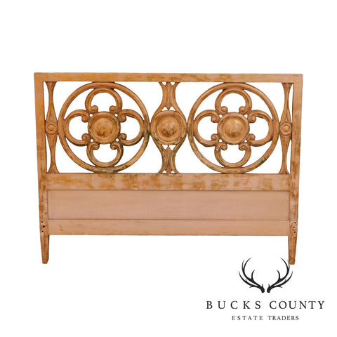 Hollywood Regency Custom Quality Faux Painted Queen Headboard