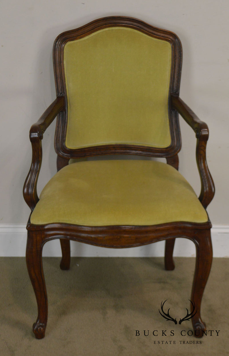 Henredon Four Centuries Collection Set 6 French Louis XV Style Dining Chairs