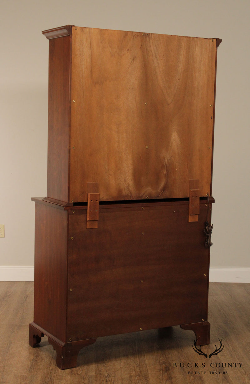 Suter's Hand Crafted Solid Walnut Pennsylvania 2 Door China Cupboard